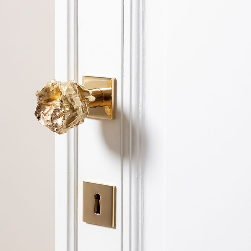 Brass knobs for doors and furniture sold on the invisible collection, designed by Victoria Maria