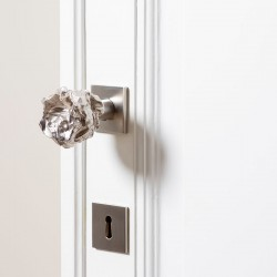 Nickel door knob designed by Victoria Maria and sold on the invisible collection.com