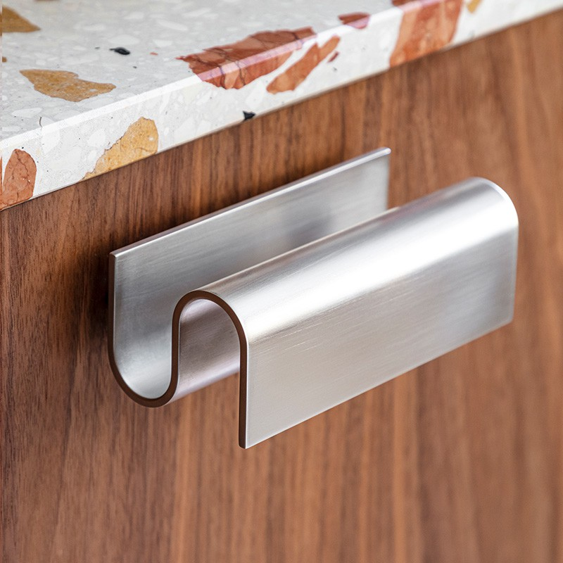 Nickel Handle for kitchen and bathroom drawers