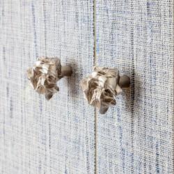 Furniture Knob in nickel by Victoria Maria for la Maison Vervloet