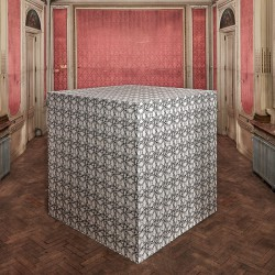 orobouros wallpaper on a cube to show the capsule collection from Victoria Maria for Pierre Frey